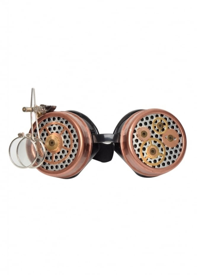Magnifying Glass Steampunk Goggles