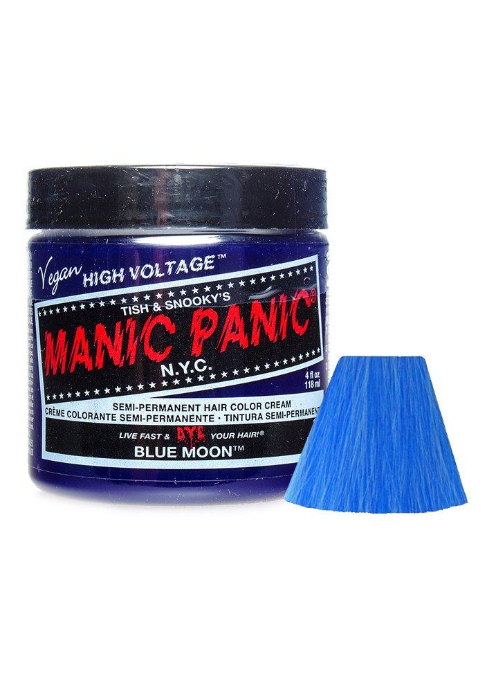 Panic Hair Dye Manic Panic Semi Permanent Hair Dye Blue Moon Comes ...