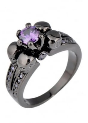 Black/Purple Underworld Ring