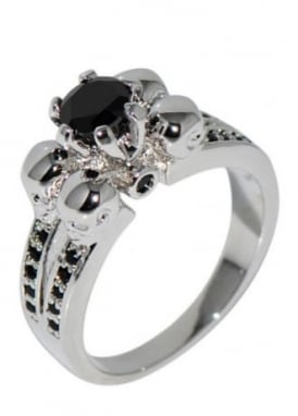Silver/Black Underworld Ring
