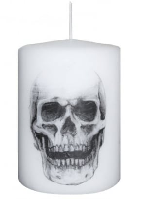 Small Skull Altar Candle