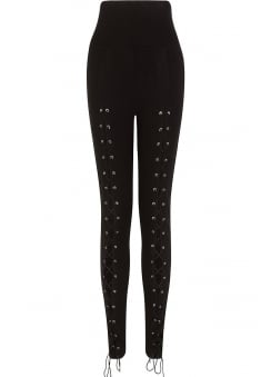 Carmenta High Waisted Lace Up Leggings