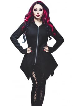 Carmenta Lace Up Gothic Hoody