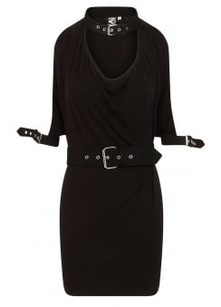 Thalia Draped Cold Shoulder Gothic Strap Top