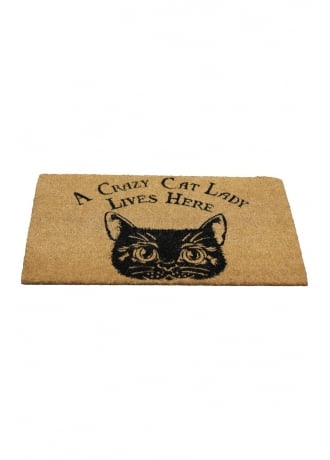 Nemesis Now Crazy Cat Lady Doormat