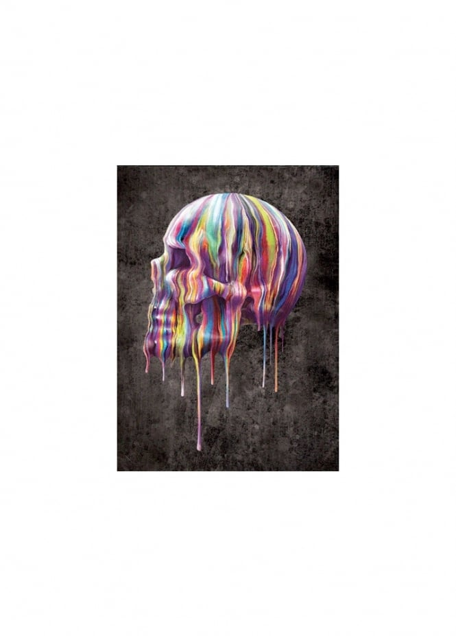 Nemesis Now Dripping Skull 3D Wall Picture