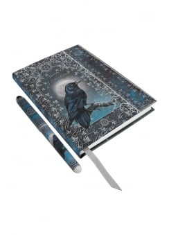 Embossed Book Of Shadows Journal With Pen
