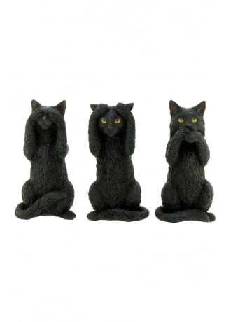 Nemesis Now Three Wise Cats Figurines