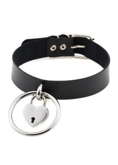 O-Ring Heart Lock Choker