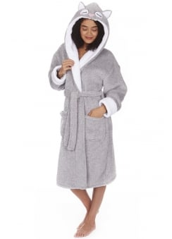 Owl Fleece Dressing Gown