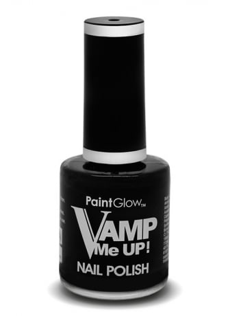 PaintGlow Black Vamp Me Up Nail Polish