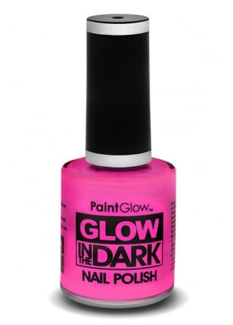 PaintGlow Pink Glow In The Dark Nail Polish