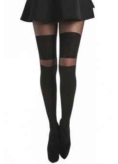 2 Stripe Wide Over The Knee Tights