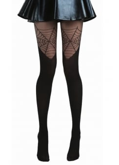 Cobweb Over The Knee Gothic Tights