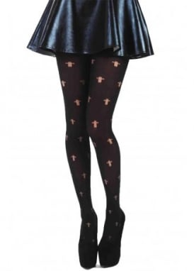 Opaque Cross Gothic Tights