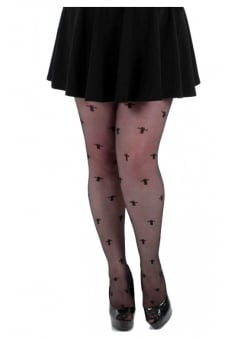 Sheer Crosses Gothic Tights