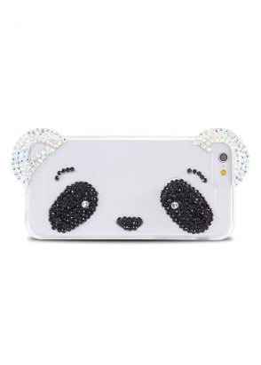Panda Face Rhinestone iPhone 6/6S Case