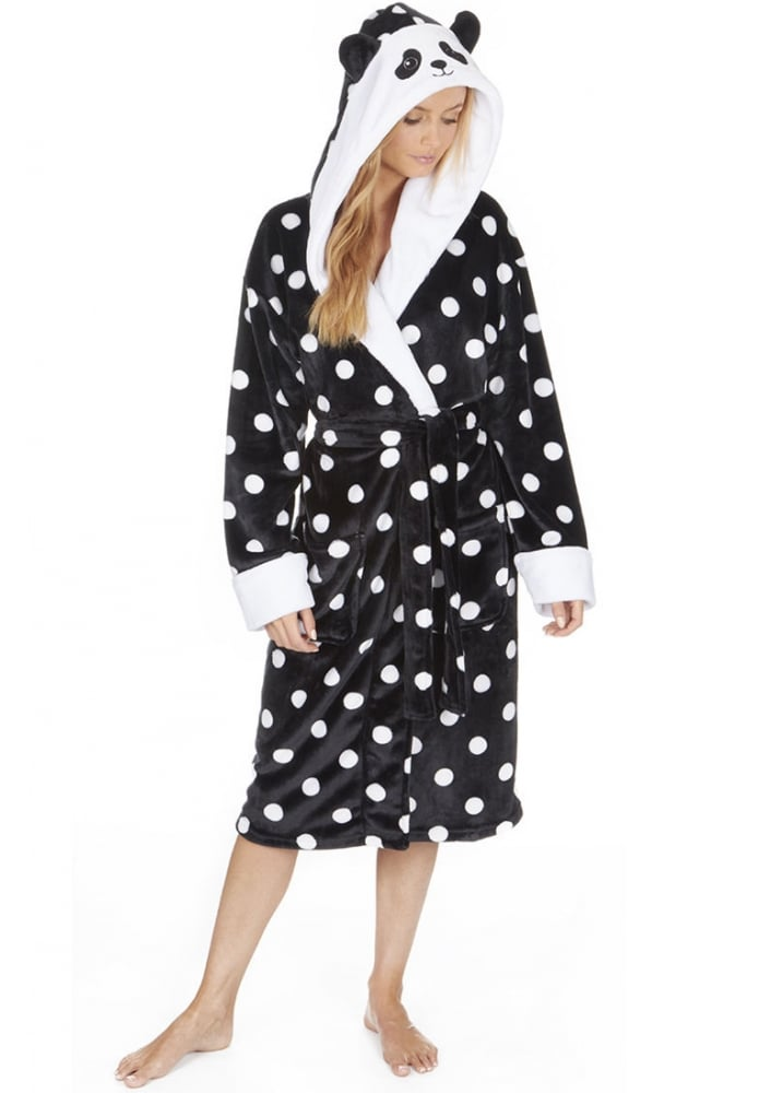 Panda Fleece Dressing Gown | Attitude Clothing