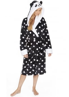 Panda Fleece Dressing Gown