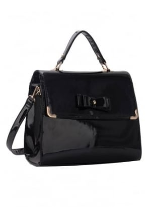 Patent Bow Satchel
