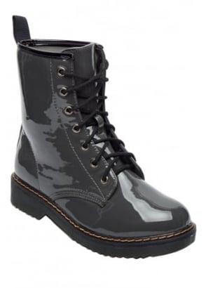Patent Combat Biker Boot