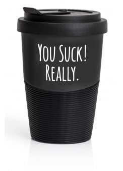 You Suck! Travel Mug