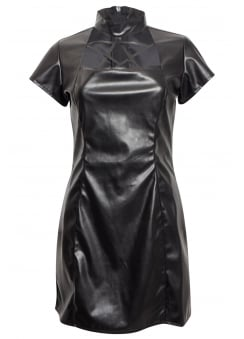Leather Look Pentagram Dress