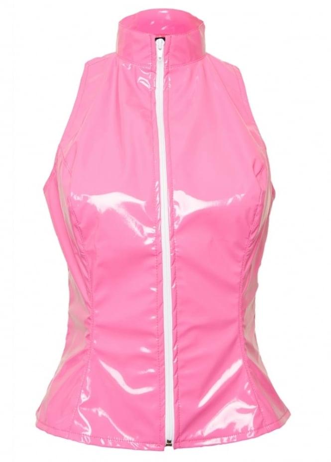 Phaze Pink Kandy Barb Sleeveless Top