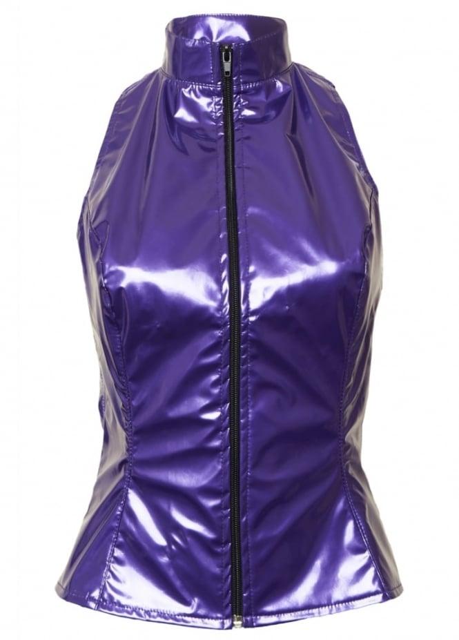 Phaze Purple Kandy Barb Sleeveless Top