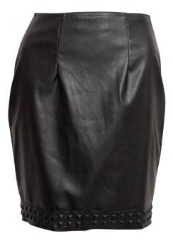 Raven Stud Hem Fatale Mini Skirt