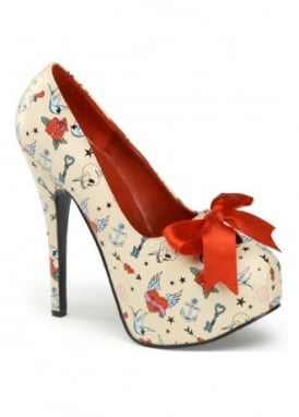 Teeze-12 Tattoo Bow Shoe