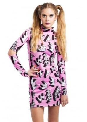 Pink Geometric Dress