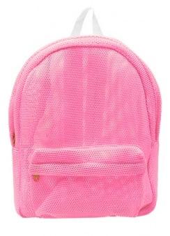 Pink Mesh Backpack