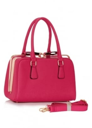Pink Metal Frame Handbag