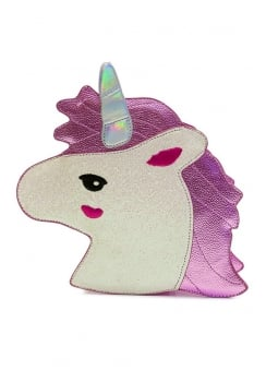 Pink Shimmer Unicorn Shoulder Bag