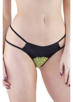 Mariela Black & Chartreuse Brief