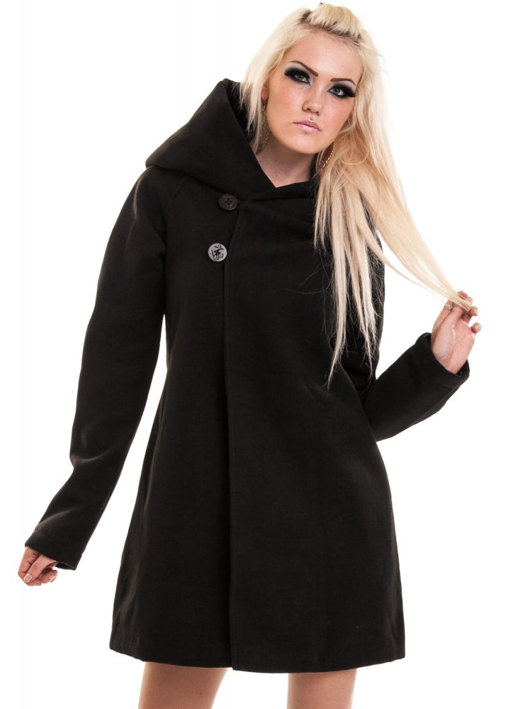 Poizen Industries Red Riding Coat | Attitude Clothing