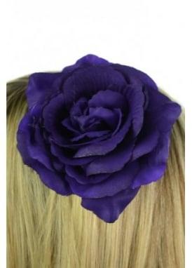 Small Purple Rose Hair Clip
