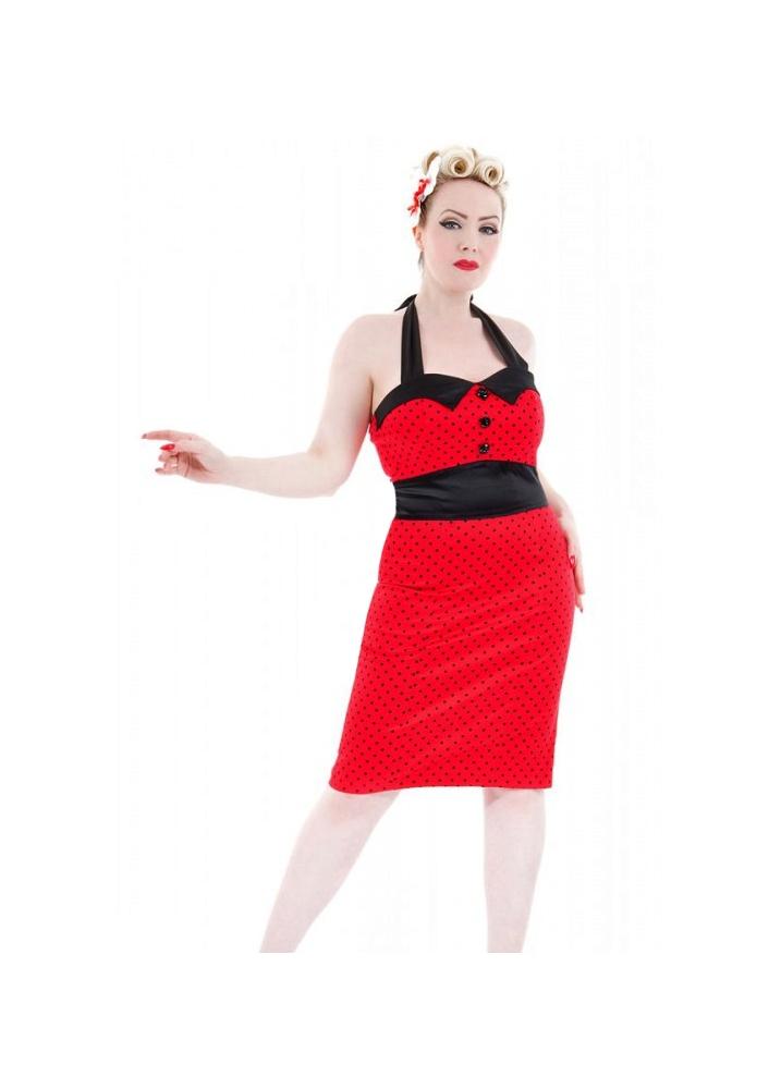 Polka Dot Pencil Dress  Size Size 10