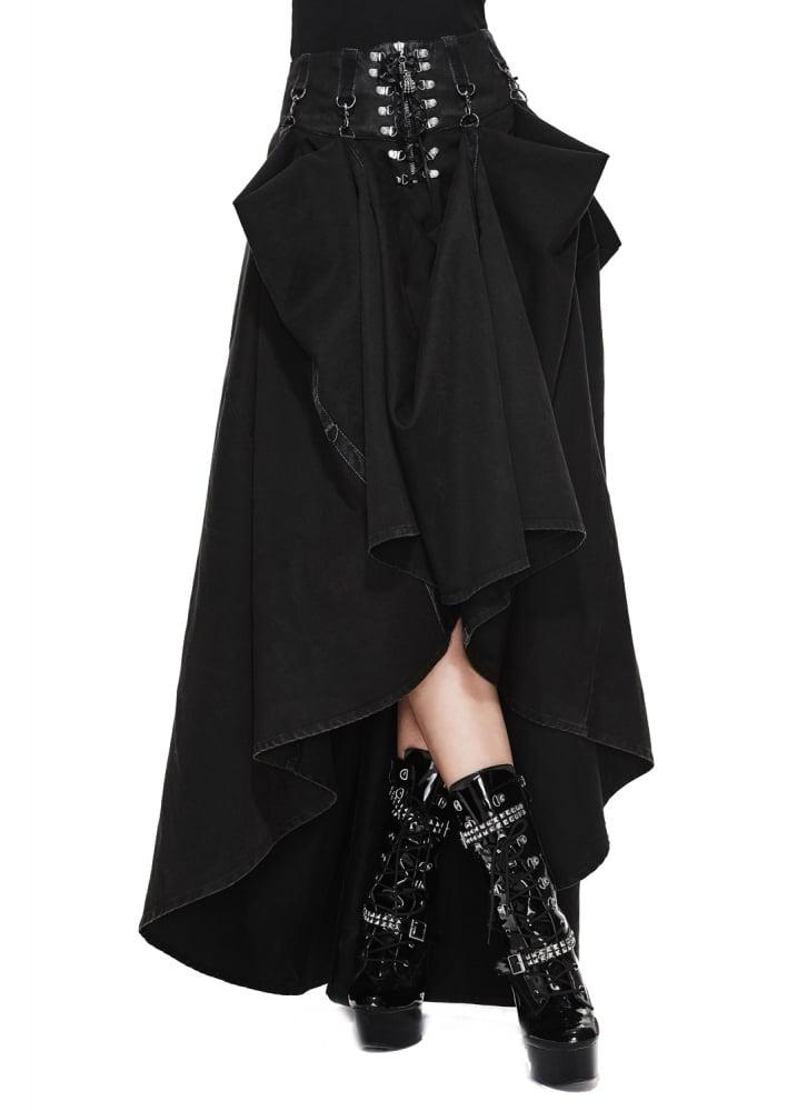 Adjustable Length High Waisted Gothic Skirt  Size S