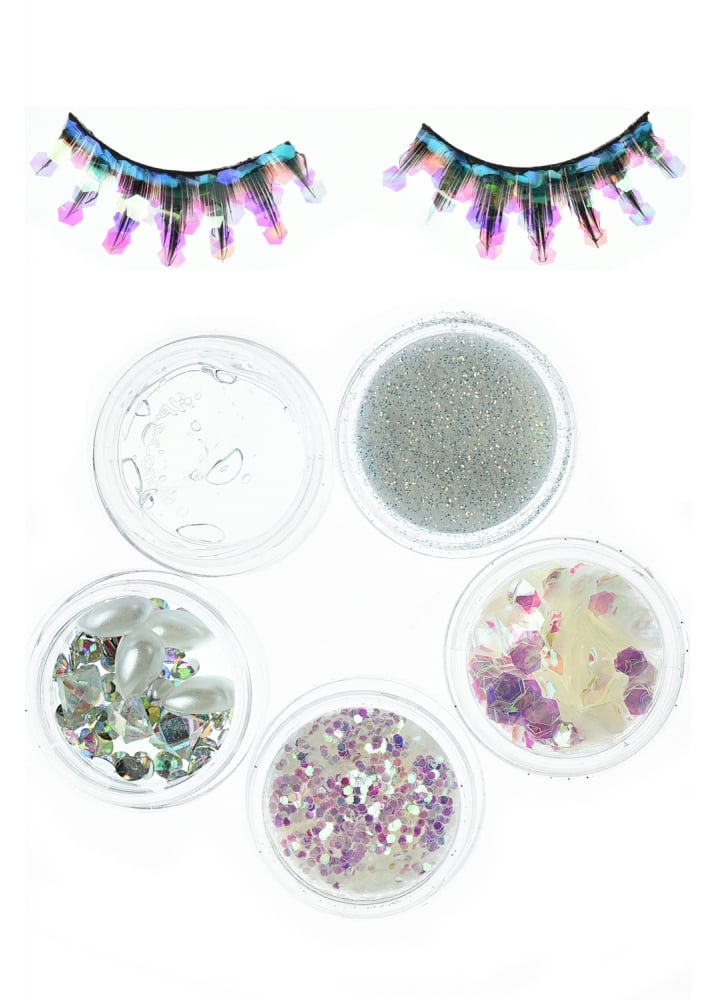 Iridescent Mermaid Cosmetic Glitter Face Pack