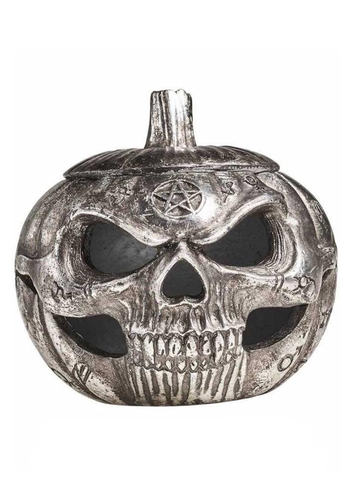 Decorations Pumpkin Skull Pot