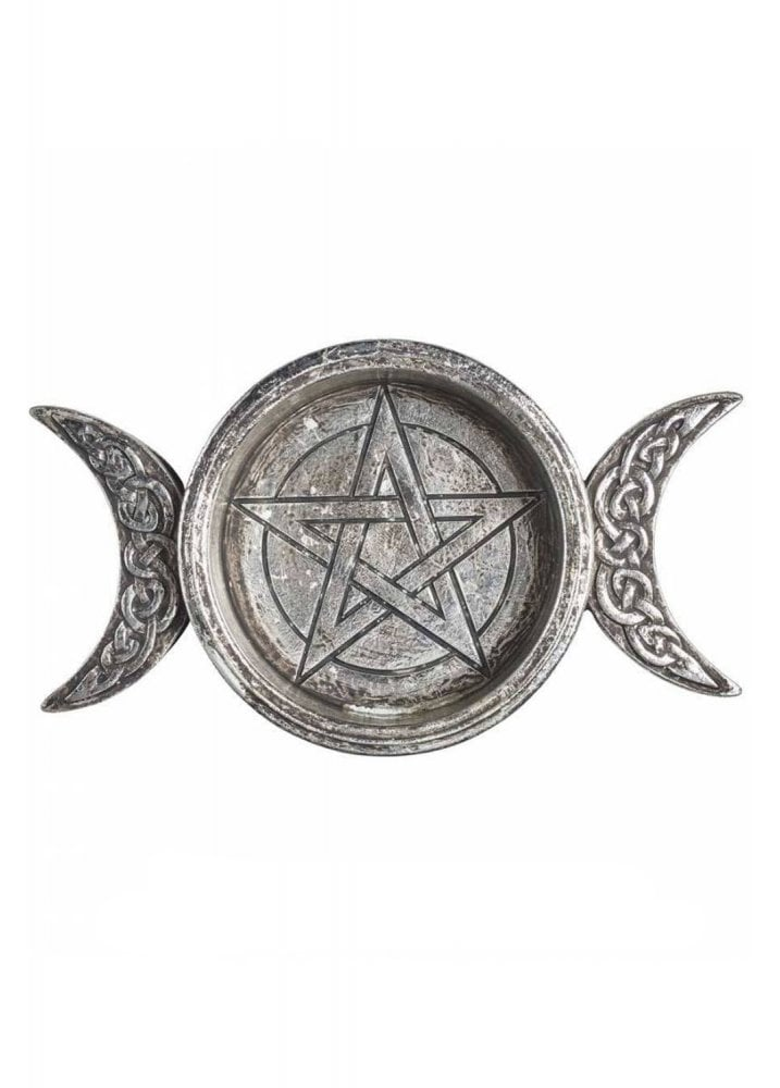 Home Accessories Triple Moon Trinket Dish / Candle Holder