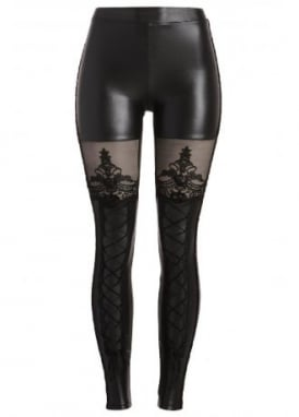 Victorian Gothic Lace-Up Leggings
