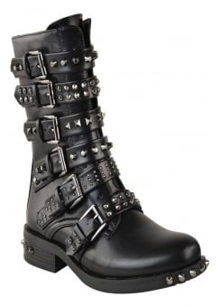 Multi Stud Biker Boot