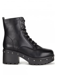 Studded Military Boot