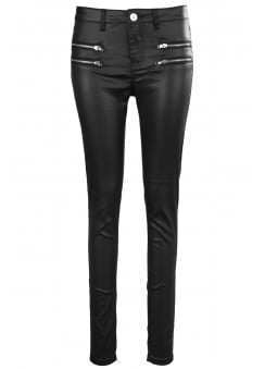 PU Coated Skinny Jeans