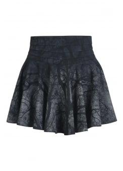 Black Metal Mini Skirt