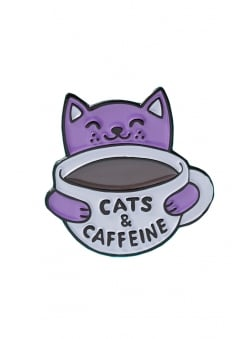Cats & Caffeine Enamel Pin