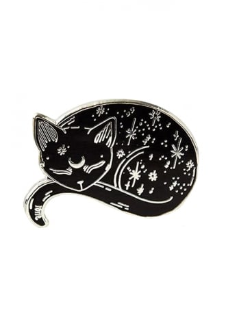 Punky Pins Mystical Cat Enamel Pin Badge